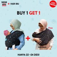 Gendongan Bayi Depan 3In1 Mobymoby Buy1 Get1 Geos Motif