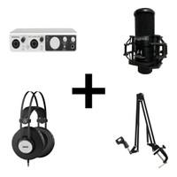 Midiplus Studio 2 Recording Pack 1 - USB Audio Interface Bundle
