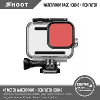 Shoot Waterproof Case Dive Housing Plus Red Filter GoPro Hero 8 Black
