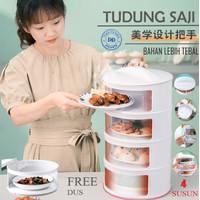 TUDUNG SAJI SUSUN RAK MAKANAN 4 SUSUN FOOD COVER TAHAN PANAS BOX