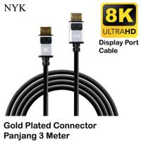 Kabel DisplayPort to Display Port UHD 8K 4K NYK DP to DP M Male 3M