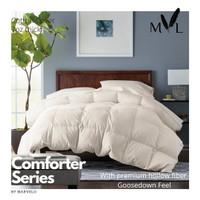 Marvelo Bed Cover Set King Koil Katun Putih 200 cm Super King
