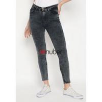 Celana Panjang Jeans Highwaist Wanita Retro Black Stretch - Kenanga