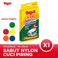 Bagus Sabut Cuci Piring Nylon 3pc 516