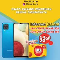 Samsung Galaxy A12 4/128GB Bundle Indosat Garansi Resmi SEIN