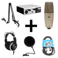 Midiplus Studio S Recording Pack 1 - USB Audio Interface Bundle