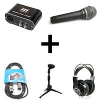 Miditech Audiolink Light Recording Pack 1 - USB Audio Interface Bundle