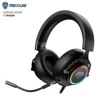 Headset Gaming Rexus Thundervox HX20 Stream RGB Gaming Headset - Hitam