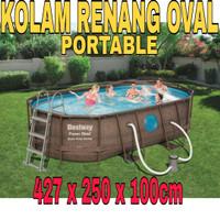 Kolam Renang Portable Dewasa Anak Besar Big Size Jumbo Oval Pool Swim