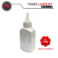 Serbuk Toner putih - White Toner All Laser color Printer 100g