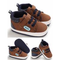 Sepatu Bayi Laki Laki Prewalker Bayi Brown Suede - Ukuran 1