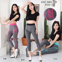 Celana leging 7/8 sport wanita senam olahraga fitnes gym yoga