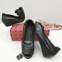 sepatu wanita TROY BURCH YC- 6092-2 WEDGE OPEN TOE 4CM 2WARNA