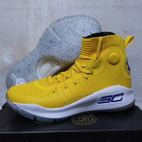 sepatu Basket ua curry 4 high yellow White