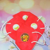 Masker kn95 edisi natal 5 ply / 5 lapisan penyaring bisa dicuci ulang