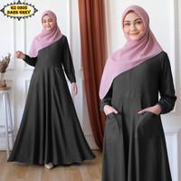 Gamis Calvin Jeans GZ0205 Dark grey/ Gamis Polos Murah/ Gamis Remaja