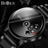 BIDEN jam tangan pria Bisnis Santai Tali stainless steel jam Tahan Air