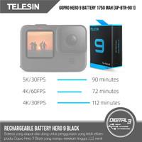Telesin Battery For GoPro Hero 9 Black 1750mAh Baterai