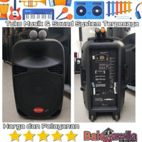 Speaker Portable Baretone Max15MHWR Speaker 130watt Ori
