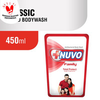 NUVO FAMILY TOTAL PROTECT ANTIBACTERIAL BODY WASH 450 ML - REFILL