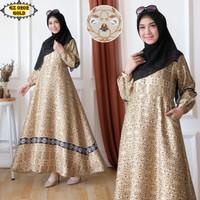 Gamis Maxmara GZ0202 Gold/ Gamis Batik Gold/ Gamis Etnik