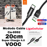 Kabel Data Pendek 20cm Mcdodo CA-6992 Type C 5A Fast Charge VOOC