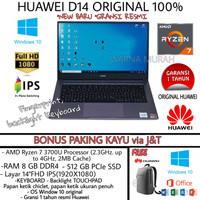 LAPTOP HUAWEI MATEBOOK D14 Ryzen 7 3700U RAM 8GB SSD 512GB LAYAR 14