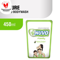 NUVO FAMILY NATURE PROTECT ANTIBACTERIAL BODY WASH 450 ML - REFILL