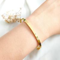 Gelang Bulat Branded bangle Wanita Korea Hadiah Teman Gold Emas asli