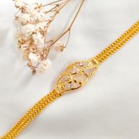 Gelang Holo super Variasi Wanita Korea Hadiah Teman Gold Emas asli k