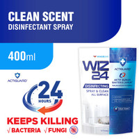 WIZ 24 DISINFECTANT CLEAN SCENT 400 ML - REFILL / WINGS DISINFECTANT
