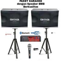 Paket Karaoke BMB CS 450 v 10 inch Amplifer Usb Bluetooth Equalizer