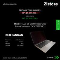 PROMO !!! New Macbook Air 2020 13-inch Space Gray 256GB Resmi
