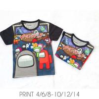 Kaos Anak Full Print Printing baju anak cowok Among Us FURO