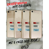 Xiaomi Mi 5 64GB 3GB RAM Second Original Mulus Like New Fullset Gold - Batangan