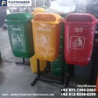 tempat sampah fiber oval organik anorganik b3 50 liter