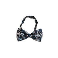 dasi kupu motif biru batik bow tie instant pria wedding houseofcuff