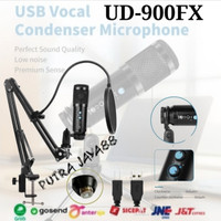 Paket Microphone Condenser USB Cable Pop Filter Stand UD-900FX