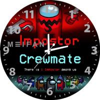 Jam Dinding Custom Among Us Crewmate Impostor Bisa Request Gambar