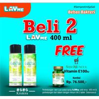 Lavme Anti Virus & Bacterial Spray 400ml - Beli 2 Free Vitamin E100iu