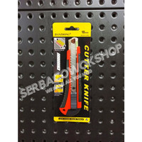 Pisau Cutter L 500 Besar Cutting Knife 180 mm Auto Lock Model Sorong
