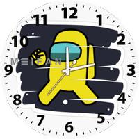 Jam Dinding Custom Among Us Yellow Bisa Request Gambar