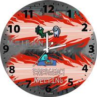 Jam Dinding Custom Among Us Emergency Meeting Bisa Request Gambar