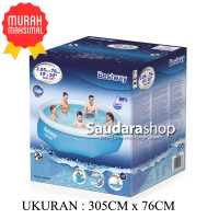 Bestway 57266 Kolam Renang Anak Jumbo [305x76cm] / Fast Set Pool Jumbo