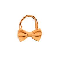 dasi kupu motif batik oranye bow tie instant pria wedding houseofcuff