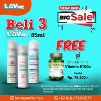 Lavme Anti Virus & Bacterial Spray 85ml - Beli 3 Free Vitamin E100iu