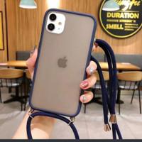 iphone 12 pro hybrid lanyard sling case bumper gantungan handphone