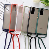 Samsung Galaxy M31 Soft Case Matte Lanyed + Tali Gantung