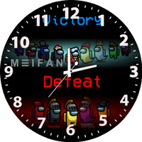 Jam Dinding Custom Among Us Victory Defeat Bisa Request Gambar