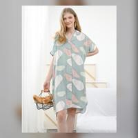 Yoko Nightdress in Calm Green - Piyama / Daster Rayon Premium by RAHA
